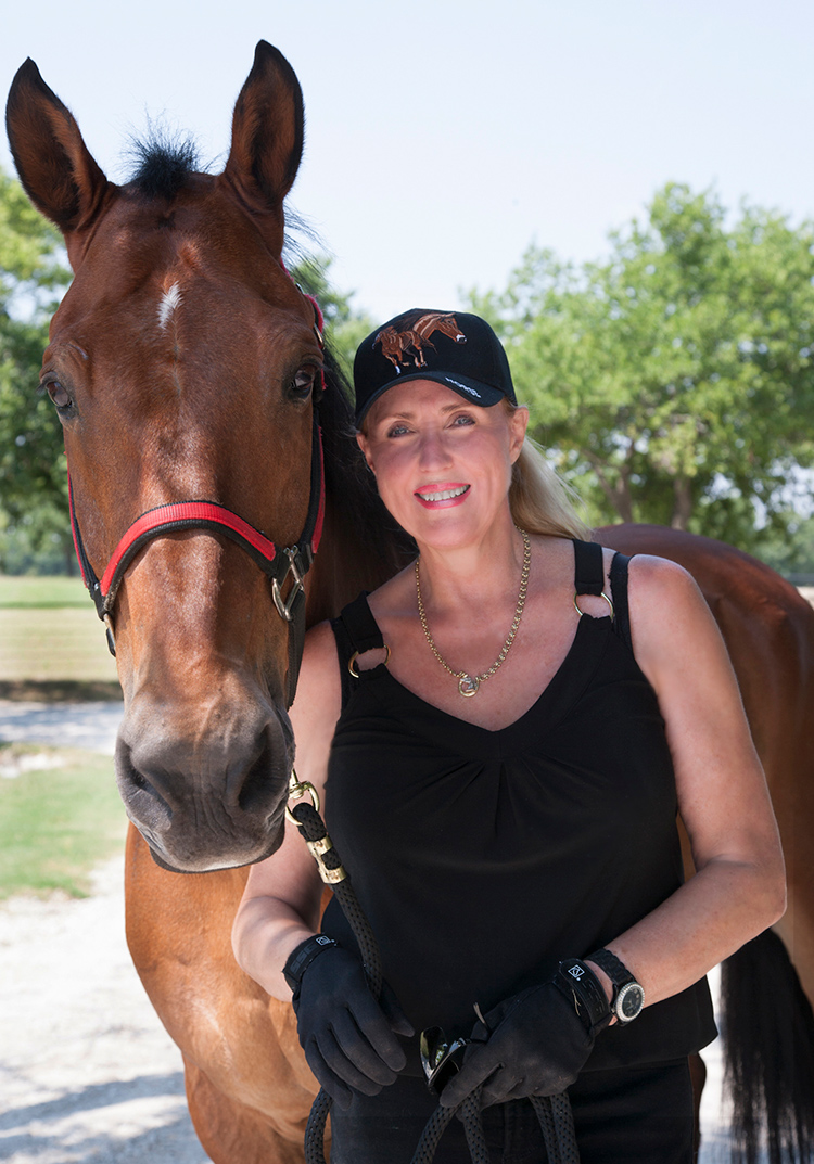 Betti Coffey and her horse